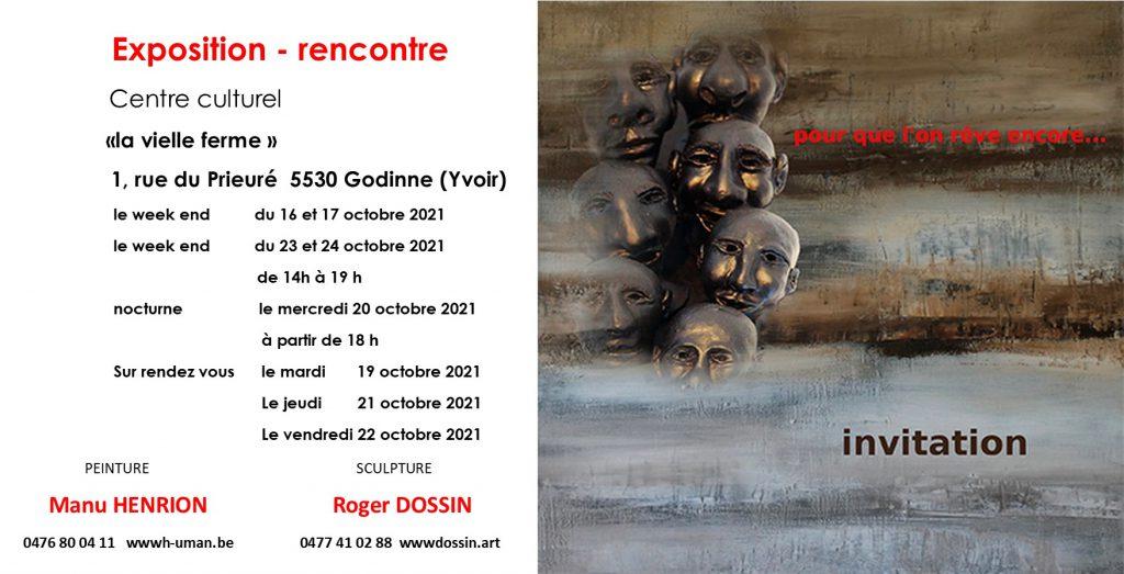 Invitation exposition du 16 au 24 octobre